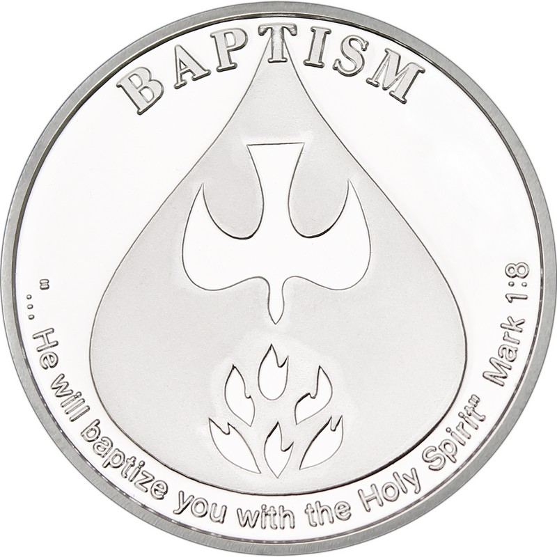 baptism medallion in gift etsy brotherhood baptismal lutheran medal pin s